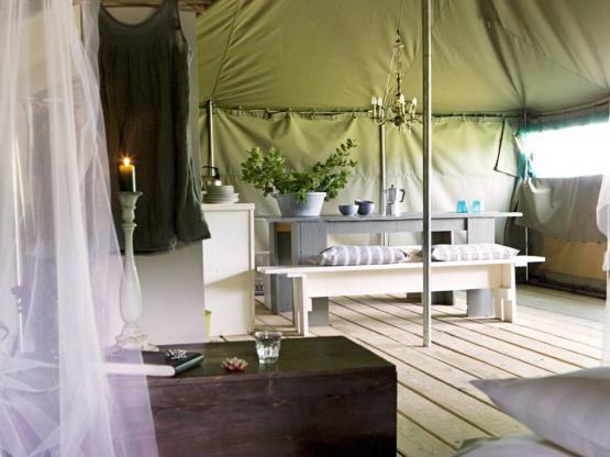 Tent kalahari m² met elektriciteit terras m² la